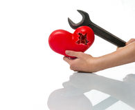 Repair of the heart Stock Images