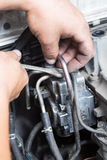 Repair of high pressure fuel pump Stock Image