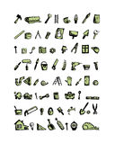 Repair home icons, sketch for your design Royalty Free Stock Photo