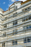 Repair home scaffolding Royalty Free Stock Images