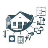 Repair of a housing symbol for business. Repair and maintenance of the housing symbol for business royalty free illustration