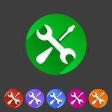 Repair icon flat web sign symbol logo label set Royalty Free Stock Photography