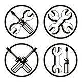 Repair icon set. Royalty Free Stock Photo