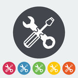 Repair icon. Repair. Single flat icon on the circle. Vector illustration Royalty Free Stock Images