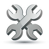 Repair icon with two wrenches. Stock Images