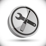Repair icon with wrench and screwdriver. Stock Images