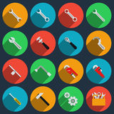 Repair icons in modern flat style Royalty Free Stock Photo