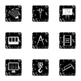 Repair icons set, grunge style Royalty Free Stock Photo