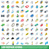 100 repair icons set, isometric 3d style. 100 repair icons set in isometric 3d style for any design vector illustration Royalty Free Illustration