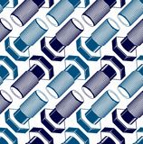 Repair idea vector seamless pattern, highly detailed 3d bolts Royalty Free Stock Photos