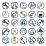 Repair instruments collection, 3d tools. Construction idea simpl. E vector objects, design elements Stock Photos