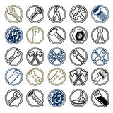 Repair instruments collection, vector 3d tools. Stock Photo