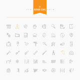 Repair, interior design, accessories and supplies icons set. Thi Royalty Free Stock Photography