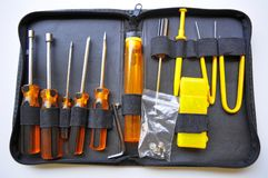Repair Kit. Computer technicians kit for repairing  and troubleshooting Stock Photos