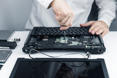 Repair laptop Stock Photos