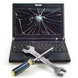 Repair of laptops. Symbolical image of repair of laptops Stock Photo
