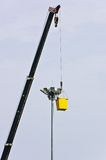 Repair of lights on a pole Stock Images