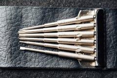Repair, maintenance vaping device mod. Upgrade parts for modern vaporizer e-cig device,spare parts. Quit smoking nicotine cigarette,start vaping safe e-cig royalty free stock image