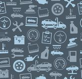 Repair and maintenance of vehicles, seamless background, grey, colour. Royalty Free Stock Photos