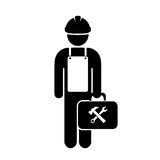 Repair man worker icon Royalty Free Stock Images