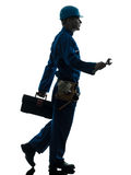 Repair man worker silhouette Royalty Free Stock Images
