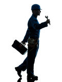 Repair man worker silhouette Stock Image