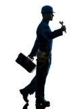 Repair man worker silhouette Stock Image