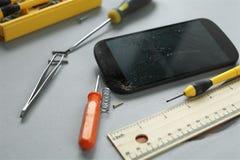 Repair of Mobile Phone Stock Image