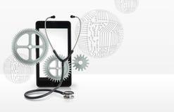 Repair of mobile phones illustration. Royalty Free Stock Photo