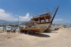 Repair of motor boats Royalty Free Stock Photo