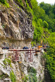 Repair of the mountain road Stock Photography