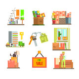 Repair and Moving Web Icon Set. Vector Stock Photos
