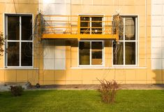 Repair Of Facade Of Building Stock Photography