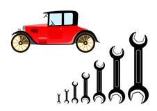 Repair Of Old Car Royalty Free Stock Images