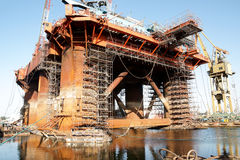 Repair of oil rig Royalty Free Stock Photos