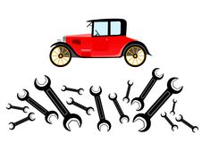 Repair of old car Royalty Free Stock Photography