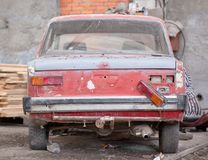 Repair of the old car Stock Image