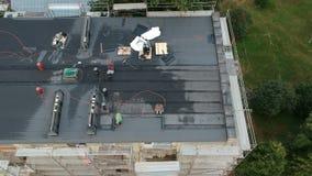 Repair old flat house roof, aerial