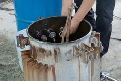 Repair old transformer stock photos