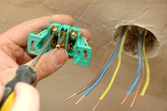 Repair the outlet Stock Image