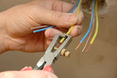 Repair the outlet Royalty Free Stock Photography