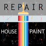 Repair with paint brush Royalty Free Stock Photos
