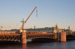 Repair of the Palace Bridge Royalty Free Stock Images