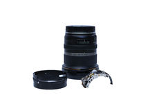 Repair Parts of Single lens camera isolated Royalty Free Stock Images