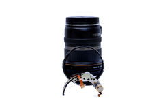 Repair Parts of Single lens camera isolated Stock Image