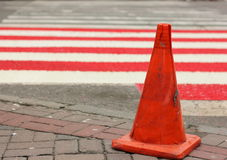 Repair of pavement at a pedestrian crossing Stock Photo
