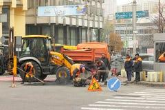 Repair pavement Royalty Free Stock Images