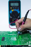 Repair PCB board. Check for waste royalty free stock images