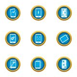 Repair the phone icons set, flat style. Repair the phone icons set. Flat set of 9 repair the phone vector icons for web isolated on white background royalty free illustration