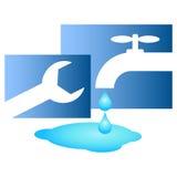Repair of plumbing stock illustration